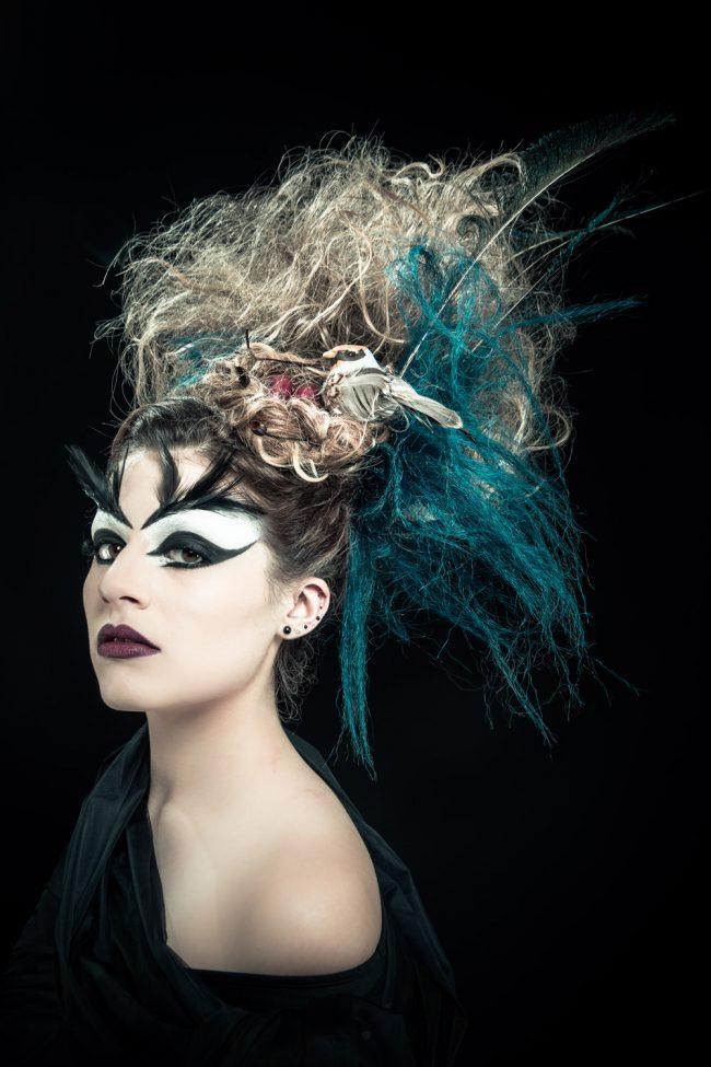 avant garde edgy fashion photography bird