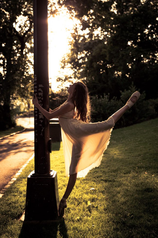 ballet dance pointe NYC sunset photography