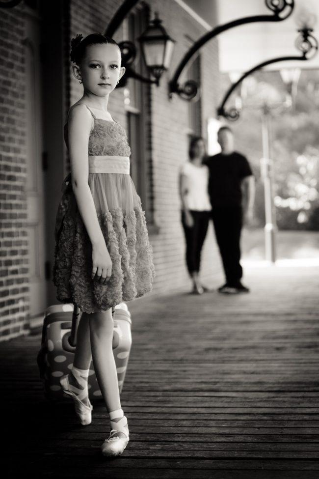 cute ballerina girl dance camp goodbye train parents Windsor CT