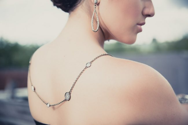 lifestyle jewelry photography back necklace
