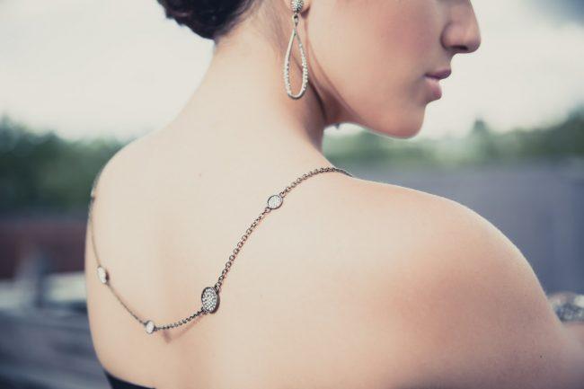 lifestyle jewelry photography back necklace