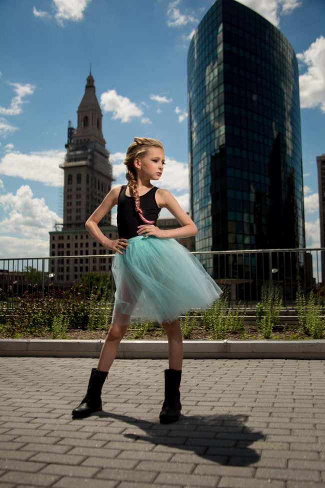 portrait city fashion child punk tutu Hartford CT