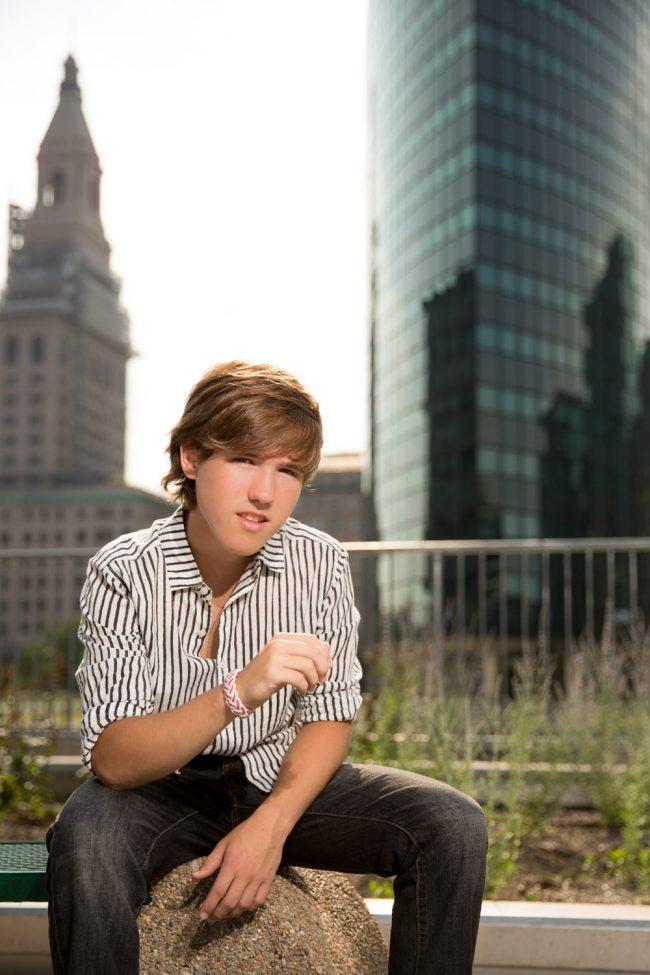 portrait teen boy edgy city Hartford CT