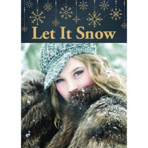 LET IT SNOW web personalized portrait holiday greeting cards
